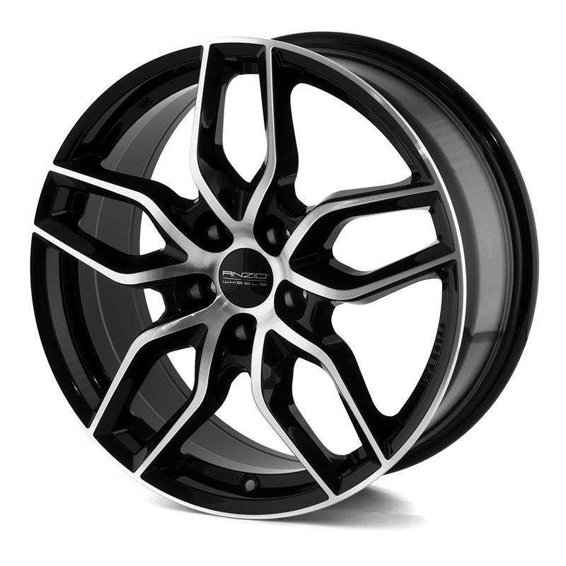 Anzio Spark Black/polished 16x6,5 5/108 ET50 N63,3