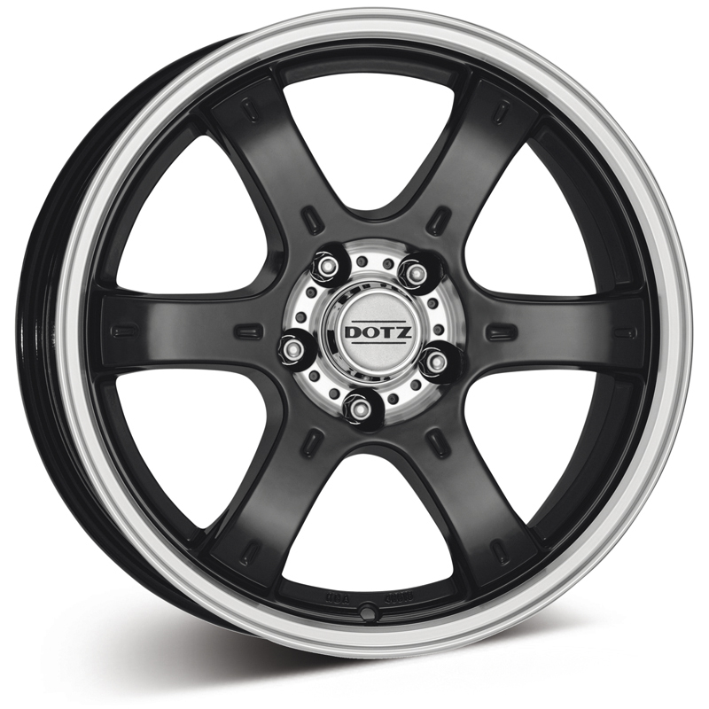 Dotz Crunch Dark (Black Polished) 16x8,0 6/139,7 ET20 N106,1