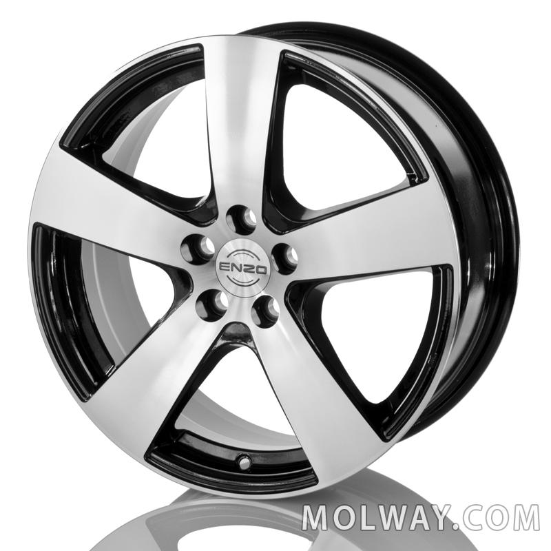 Enzo Bee Black Polished (Toyota) 17x7 5/100 ET50 N54,1