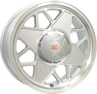 Mille Miglia 500 Silver Polished  16x6,5 4/98 ET35 N58,1