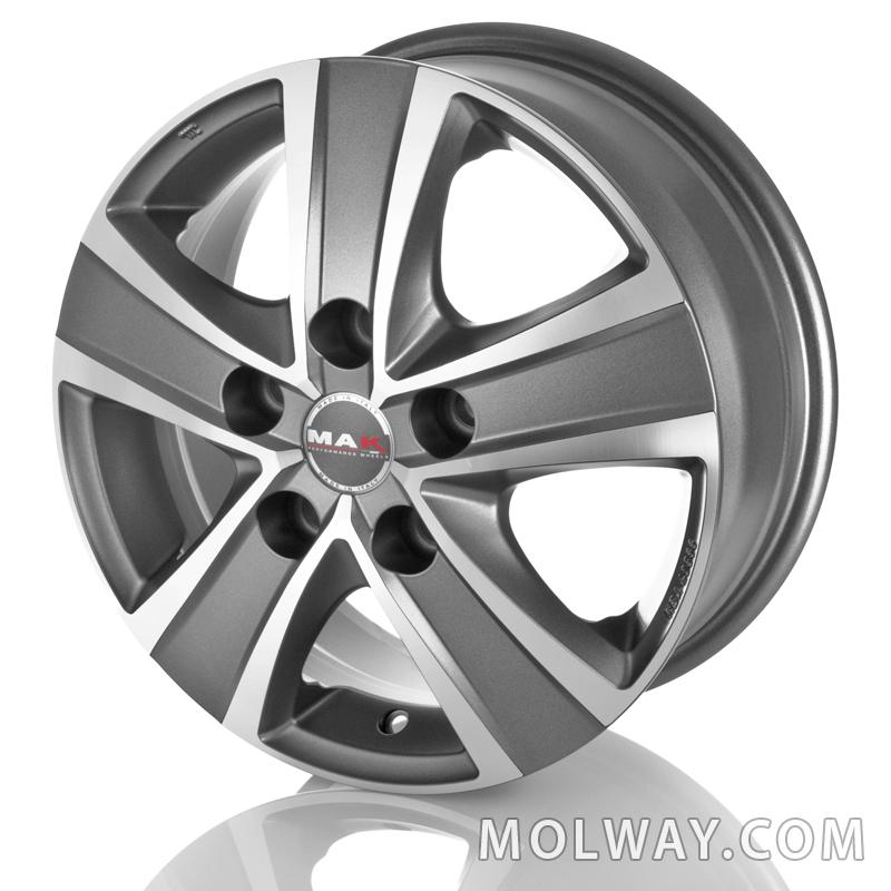 MAK Fuoco 5 Grey 16×6,5 5/130 ET50 N78,1