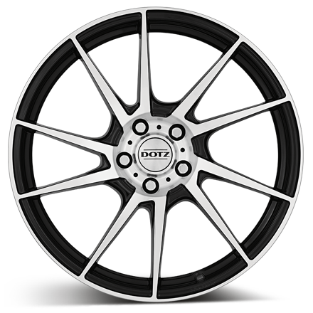 Dotz Kendo (Black Polished) 18x8,0 4/108 ET25 N65,1